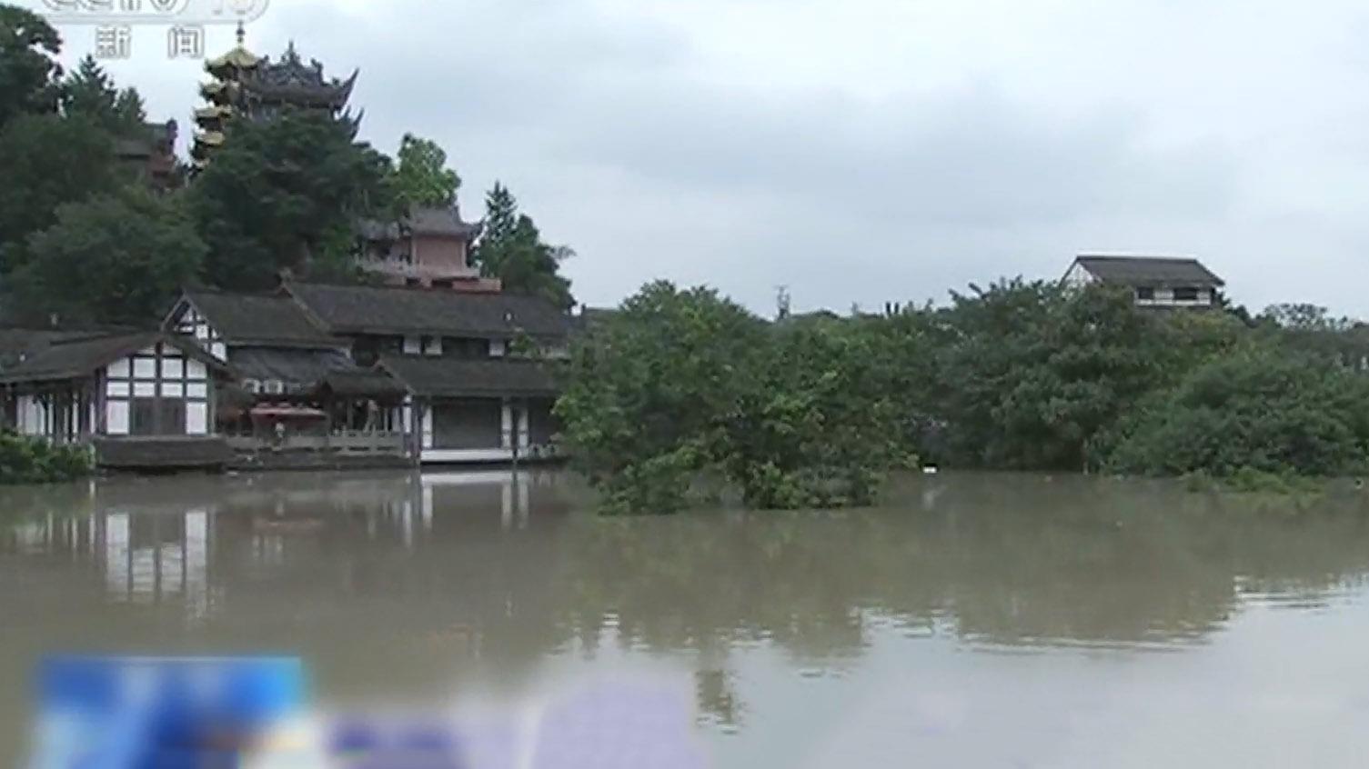 長江新一輪洪水抵達重慶導致嚴重水浸