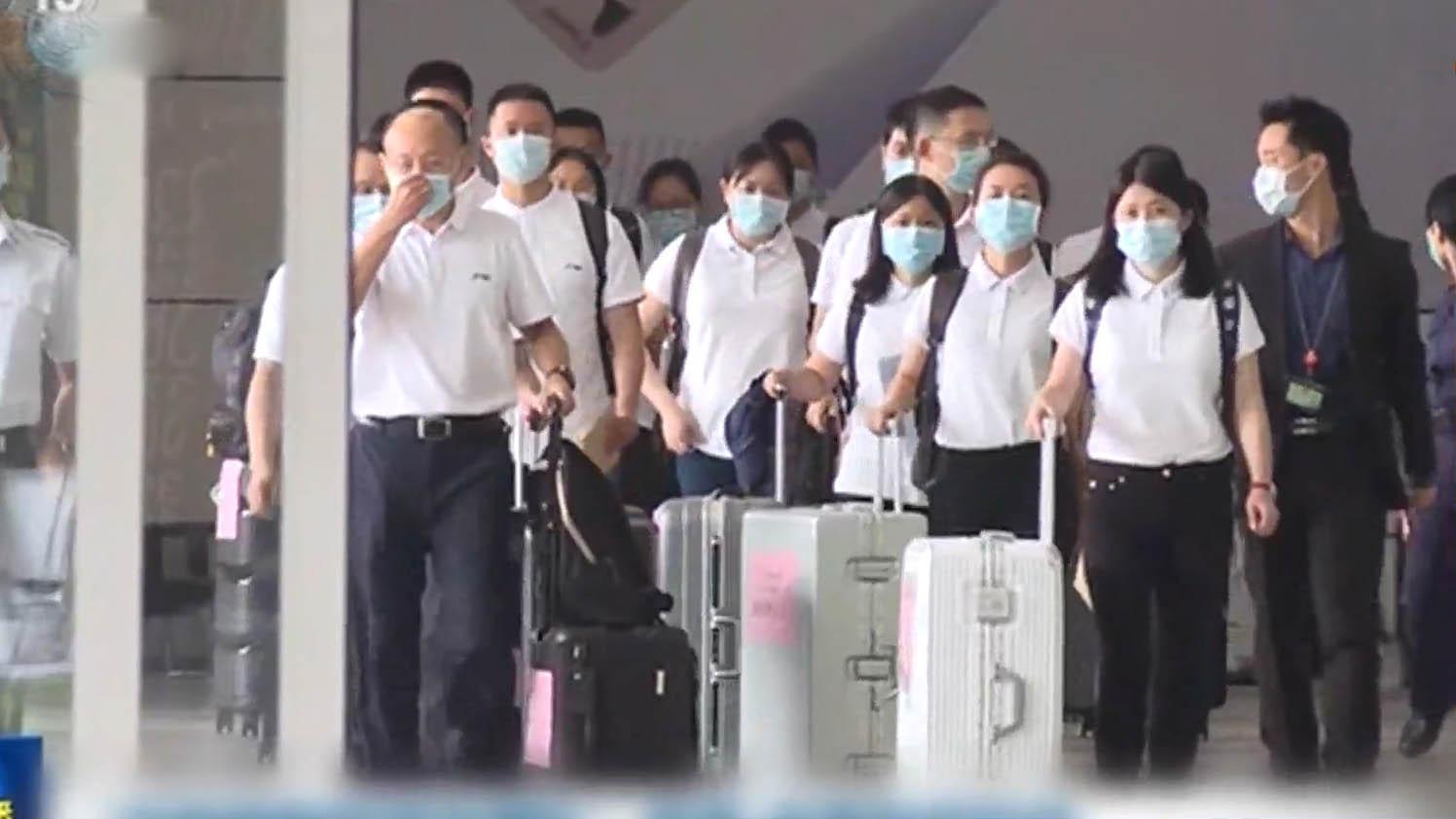 內地核酸檢測支援隊抵港 港府舉行歡迎儀式