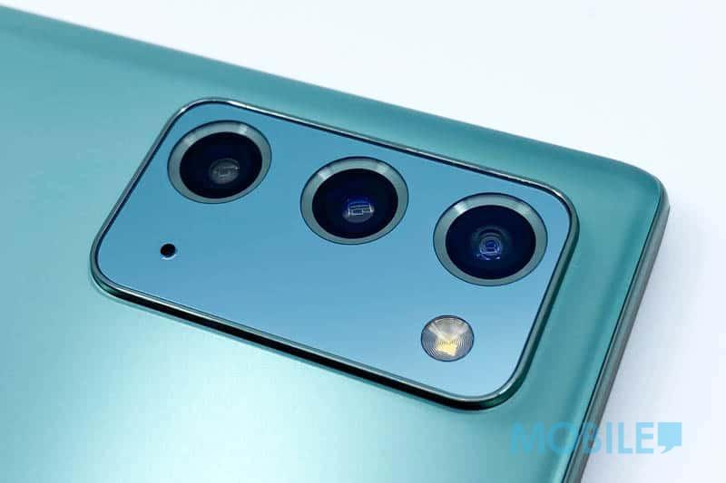 ▲ Note 20 沿用系列常見 1,200 萬像素 Dual Pixel F1.8 OIS 鏡頭組