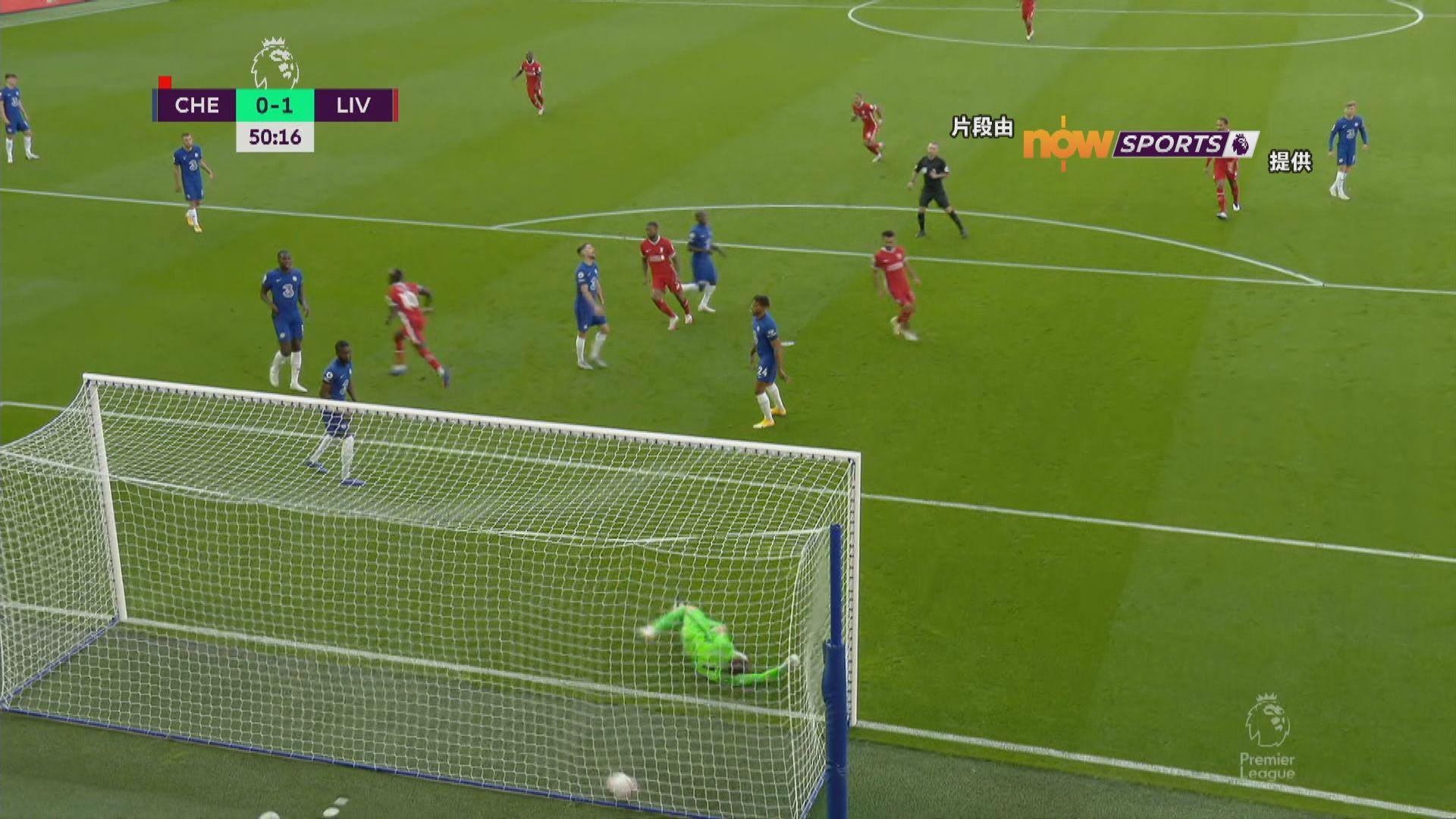 英超 車路士0:2利物浦