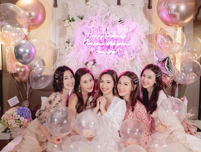 【恭喜哂】岑杏賢將嫁圈外金融業男友 五大美人生日會合照報喜