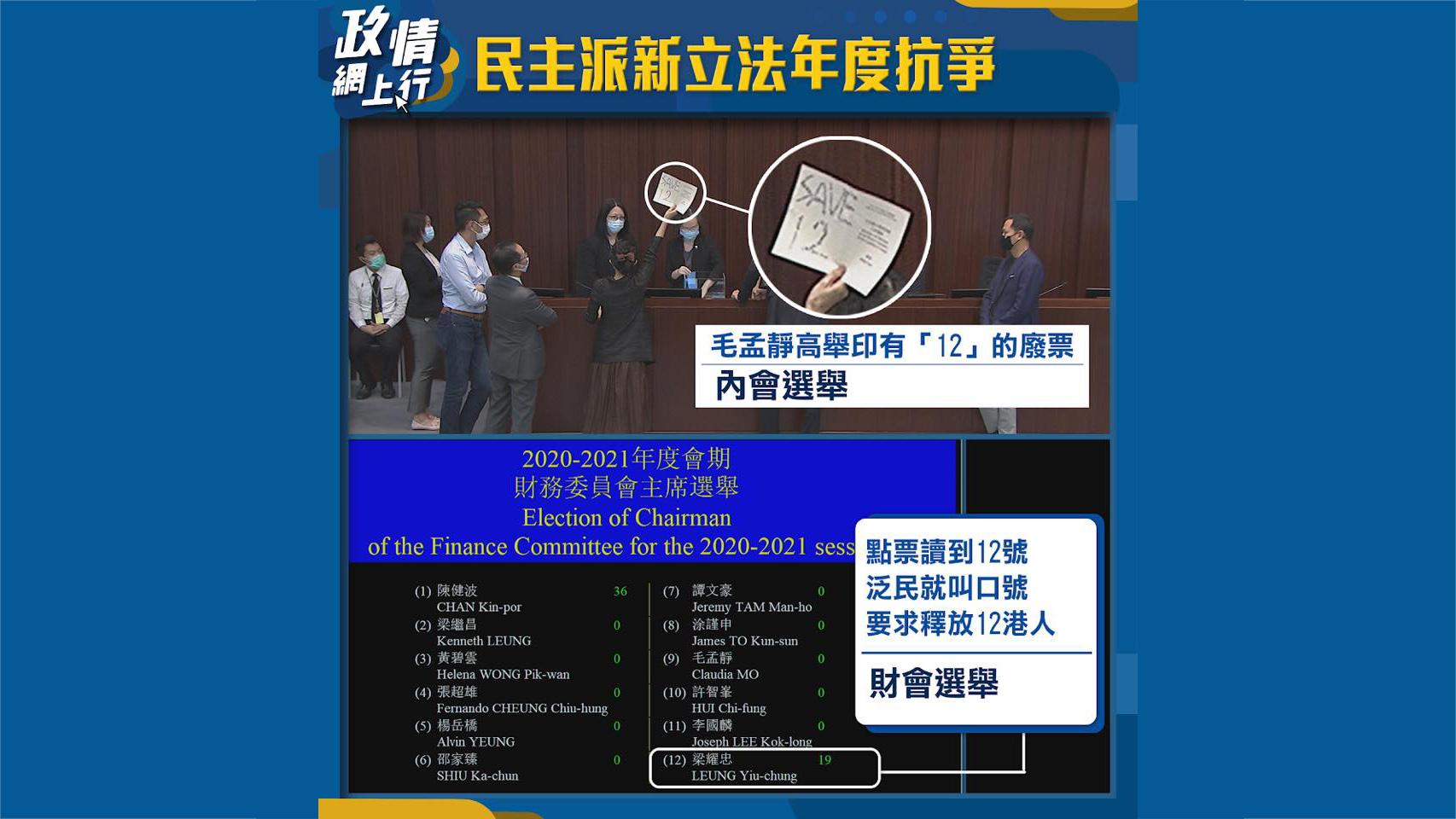【政情網上行】民主派新立法年度抗爭