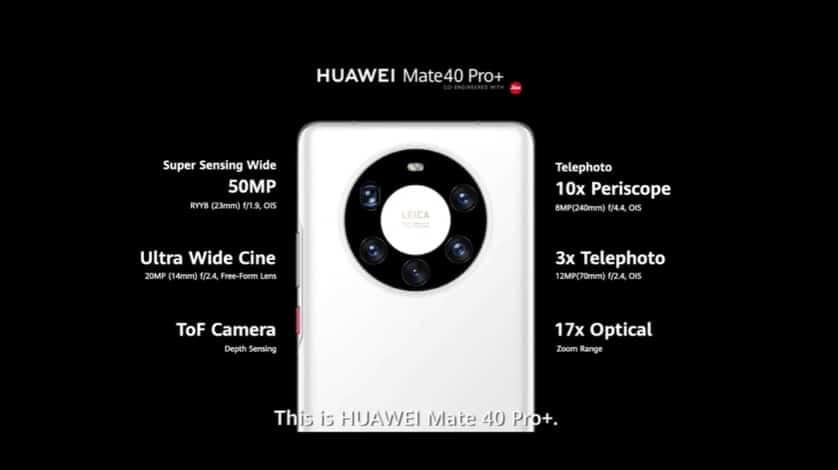 5000萬像主鏡及配備 Kirin 9000 處理器,HUAWEI 最強旗艦 Mate 40 系列發佈!