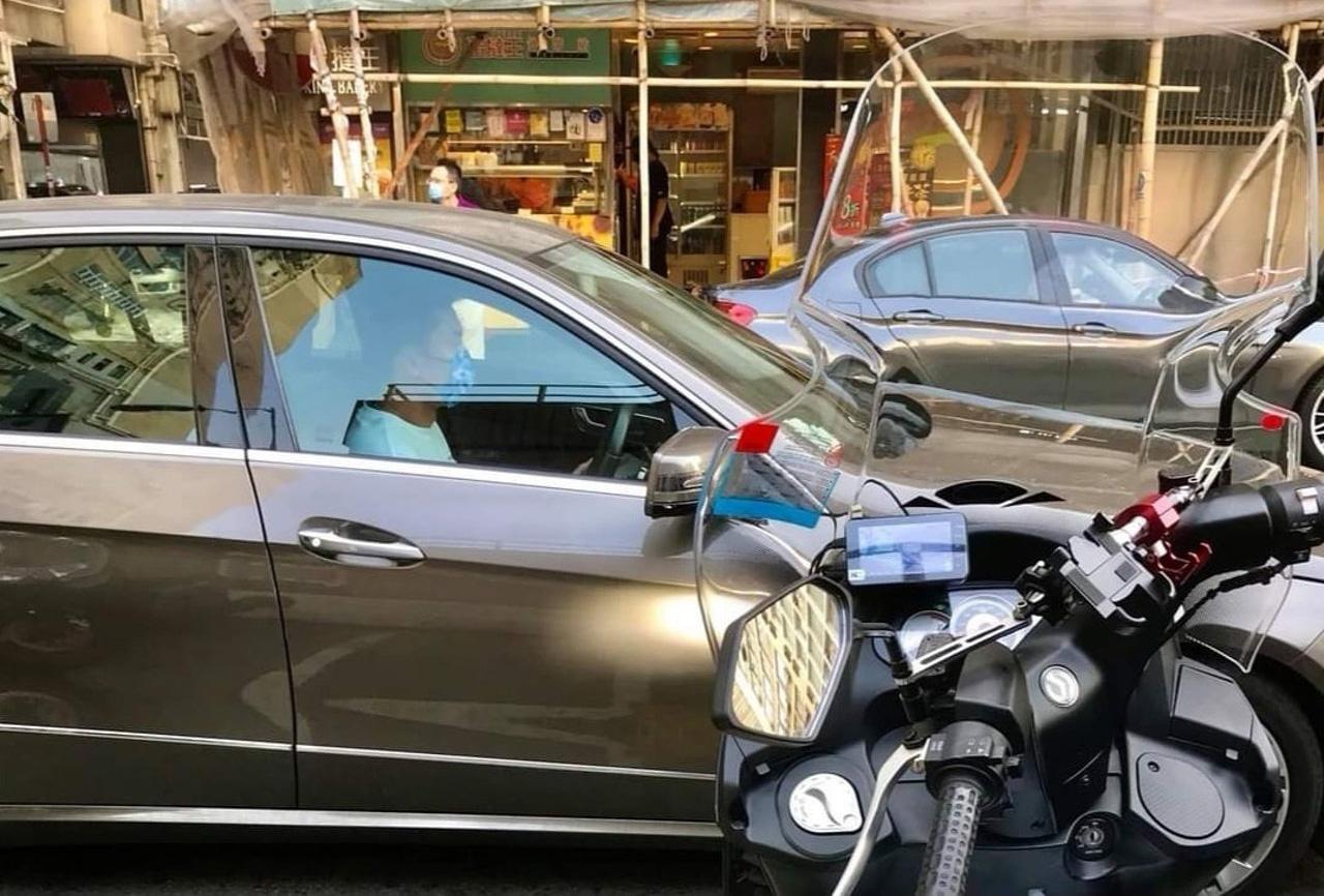 私家車上司機身形、外貌都與楊明十分相似