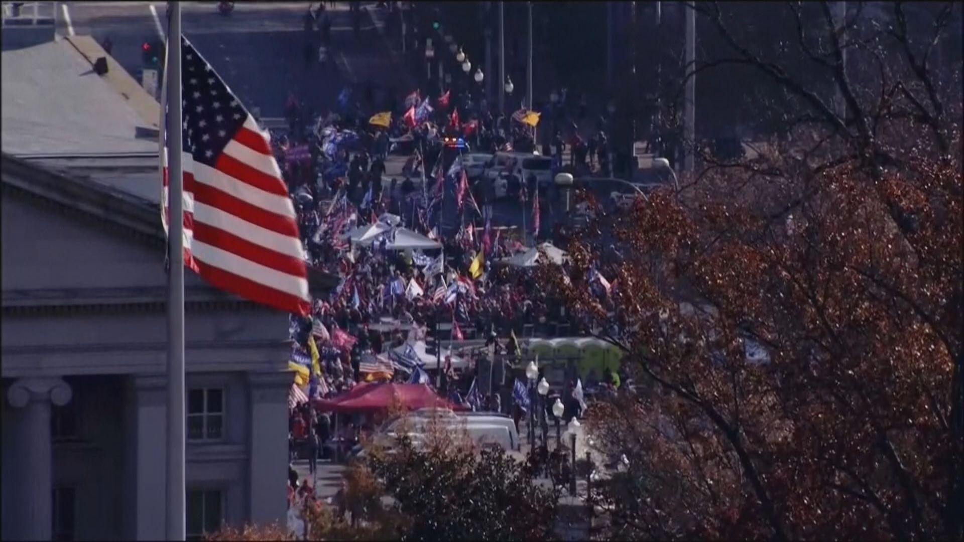 有民眾在華盛頓集會聲援特朗普