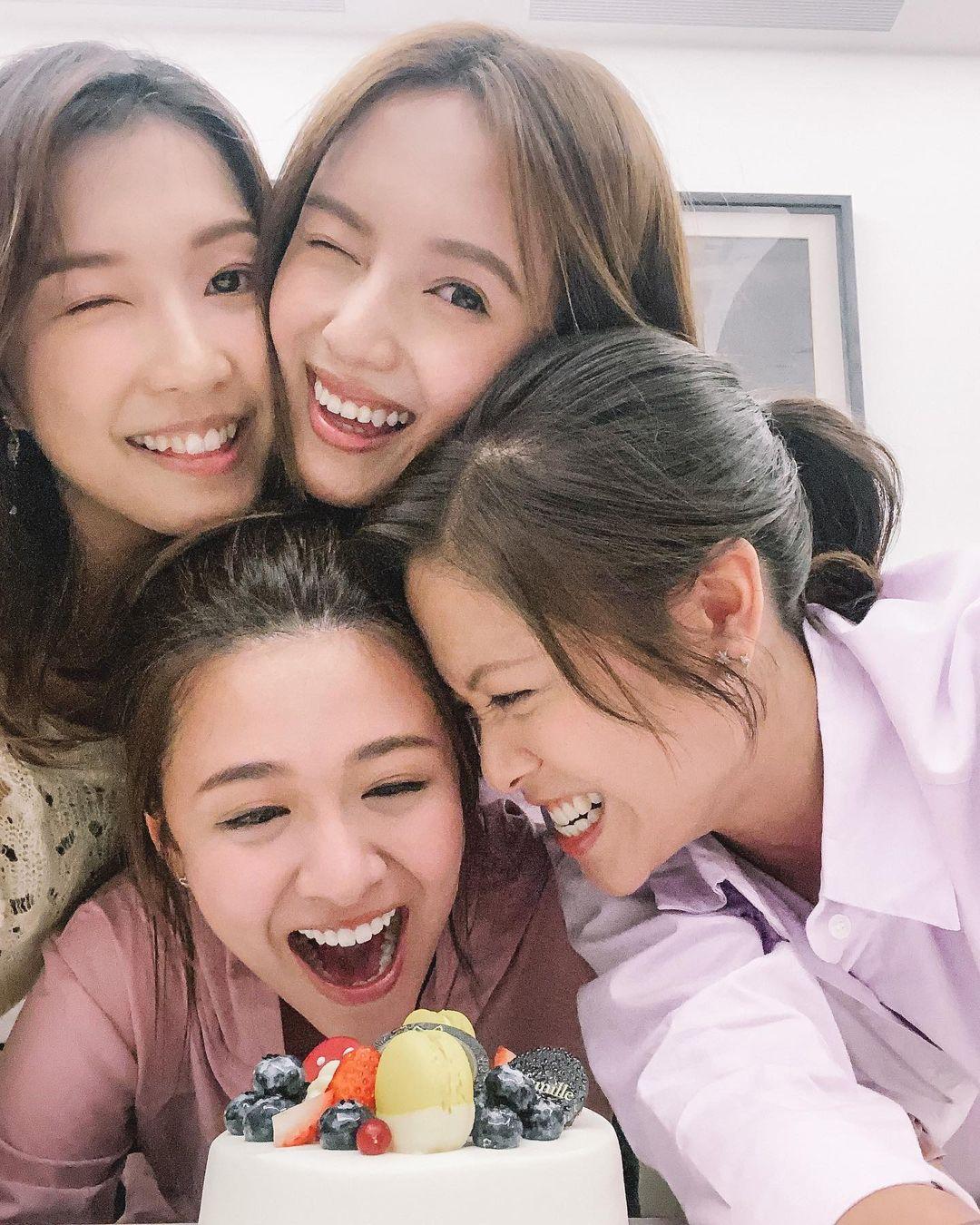如今就有千億女友郭嘉文(左上)為她慶生