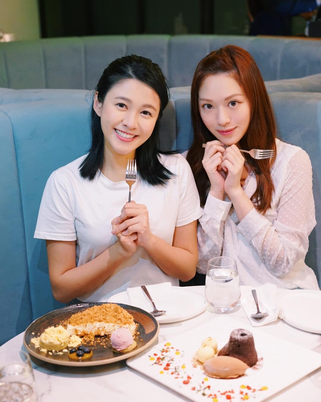 江嘉敏與馮盈盈(右)昔日為形影不離好姊妹
