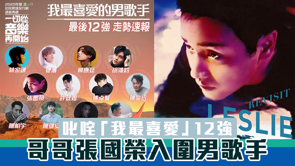 叱咤公布票選「我最喜愛」12強 張國榮入圍男歌手!