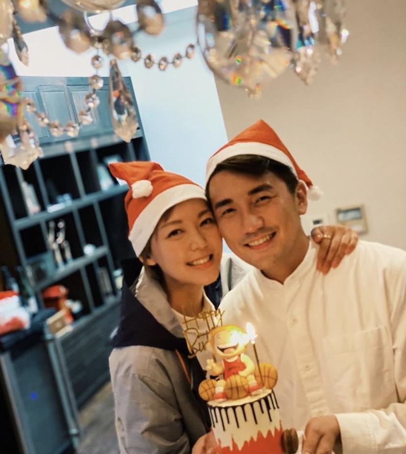 洪永城37歲生日 與女友梁諾妍頭貼頭放閃