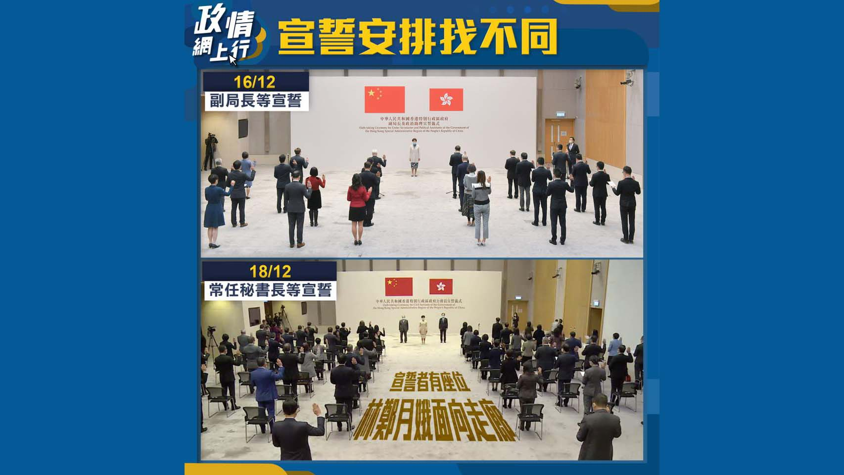【政情網上行】宣誓安排找不同