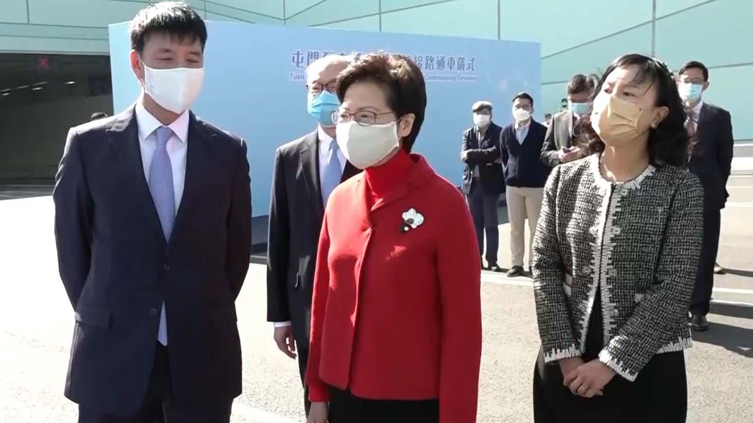 林鄭月娥出席屯赤北面連接路通車儀式