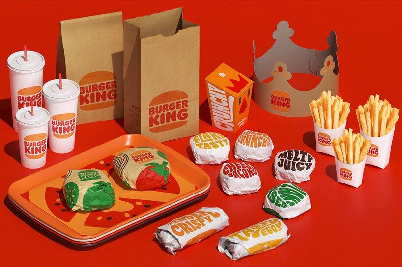 Burger King也更新了食品包裝設計
