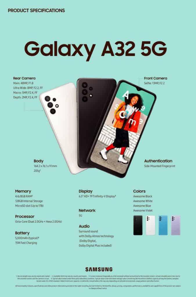 幫 S21 預熱,賣 $2,630 起 Galaxy A32 5G 歐洲發布