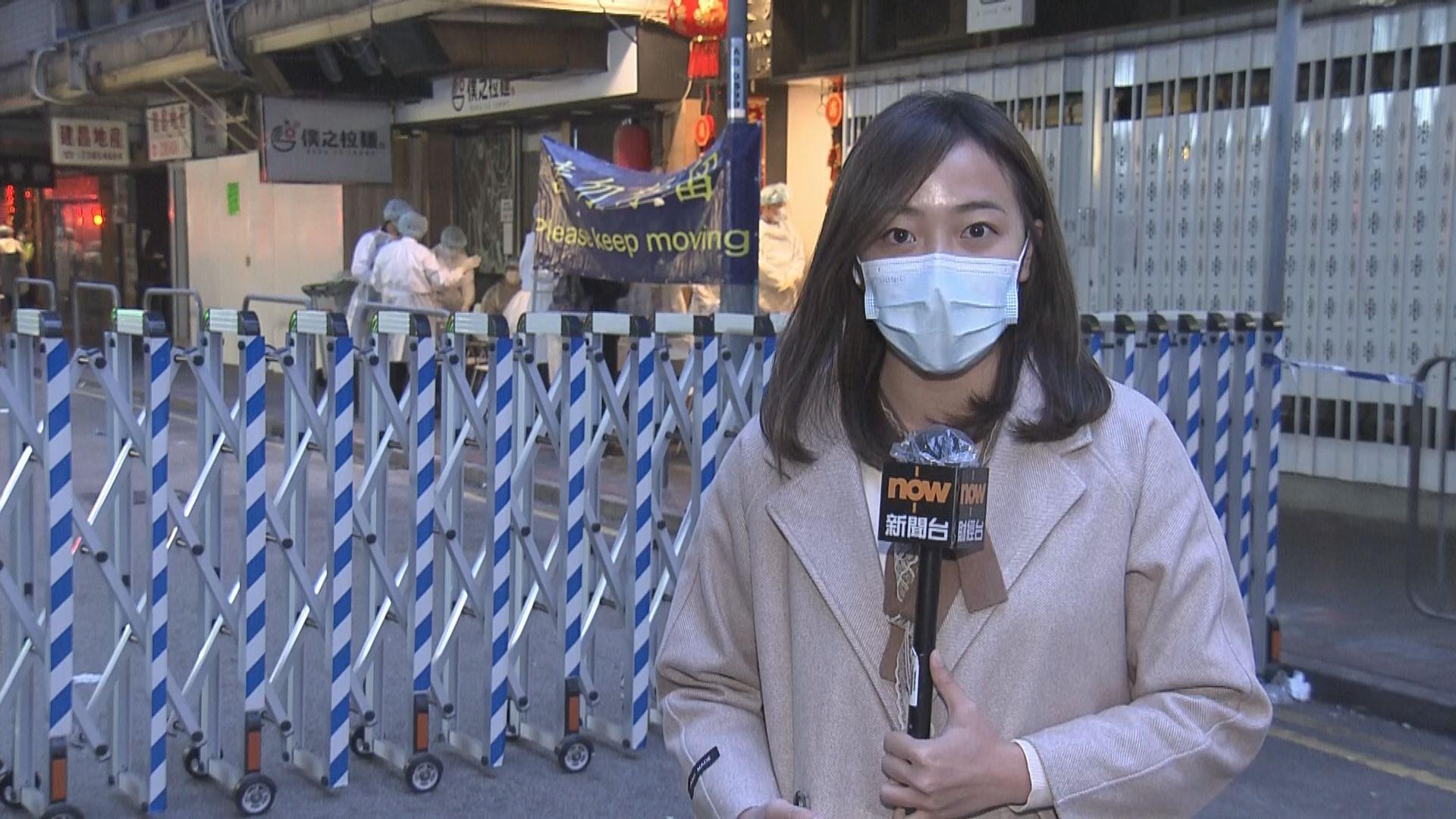 【現場報道】佐敦文英樓被圍封 樓下通宵營業商店未能開門營業