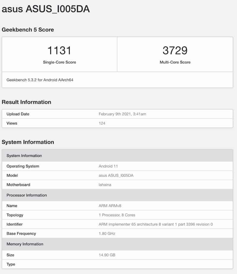 Snapdragon 888、16GB RAM,配頂級硬件 ROG Phone 5 規格流出
