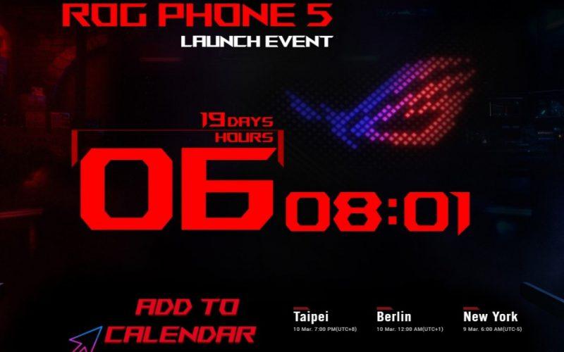 【官方】Asus ROG Phone 5將於3月10日正式發布,將採用雙電芯電池及驍龍888處理器