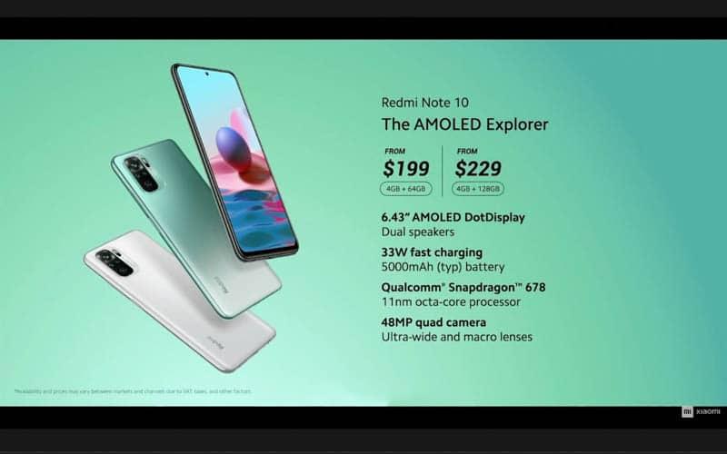 低至 $1,540 起,一連四款 Redmi Note 10 機海發布