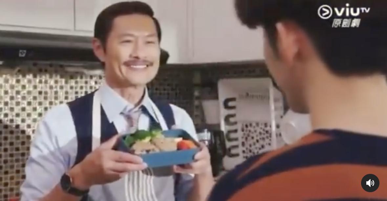 黃德斌為Edan準備愛心飯盒