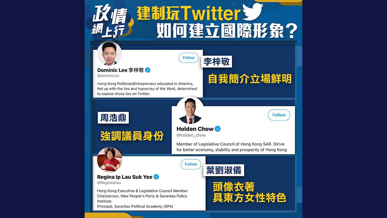 【政情網上行】建制玩Twitter 如何建立國際形象?