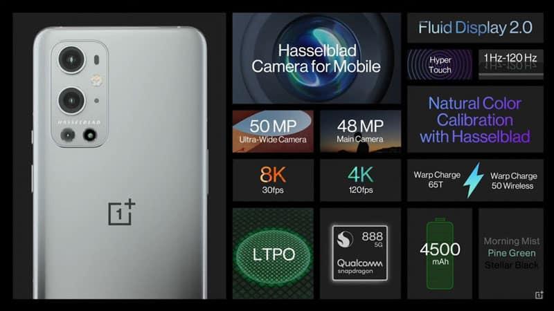 全線配備 Snapdragon 888、Hasselblad 鏡頭,OnePlus 9/9 Pro 正式發表