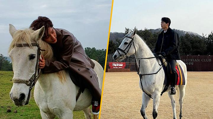 宋仲基IG上載騎馬片段  騎姿可愛冧爆宋太太