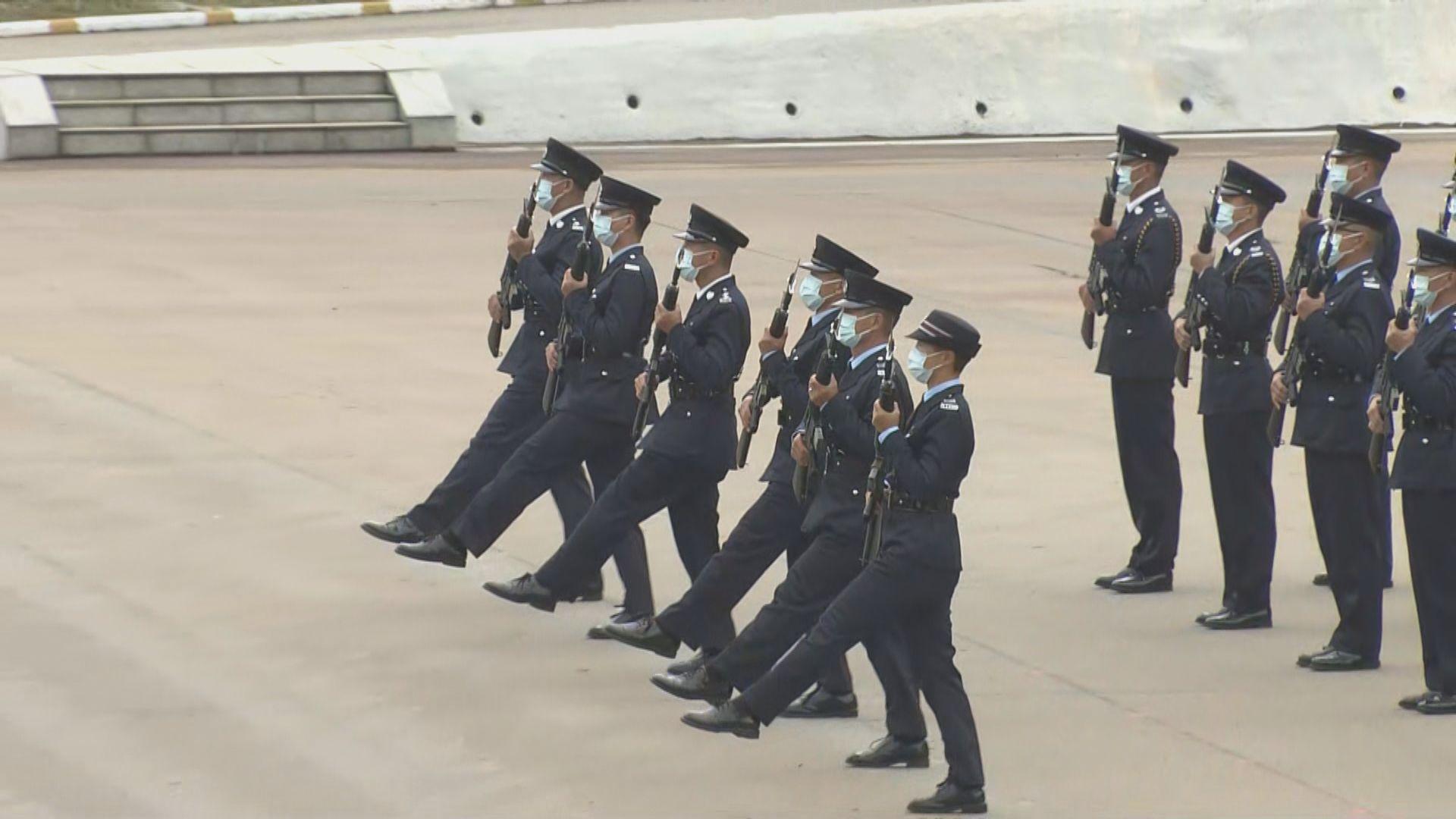 警察學院開放 警隊示範中式步操