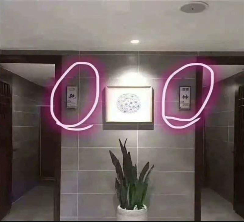 【點分男女?】台灣有公廁標「乾坤」 宮廷劇迷拆解玄機