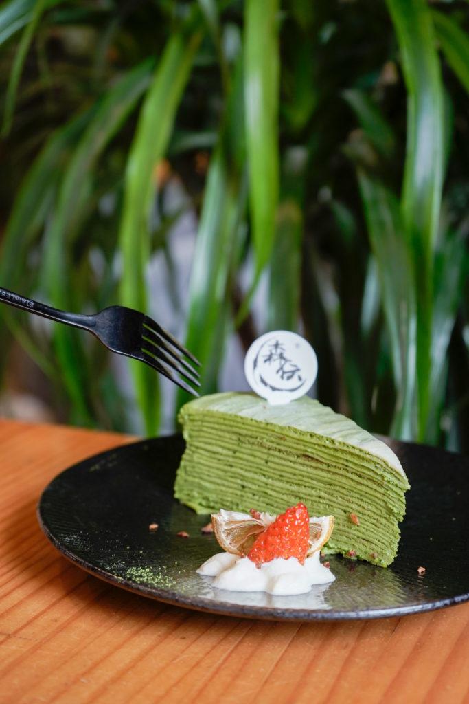 玄綠千層 抹茶濃郁,甜度適中