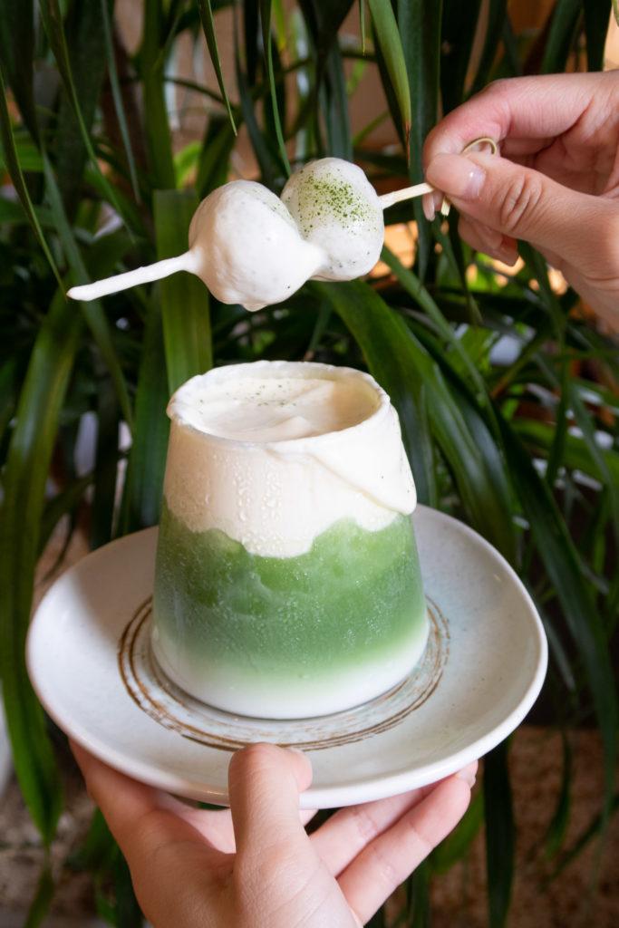 雪頂丸山 拍照好好看!抹茶和奶香的完美融合