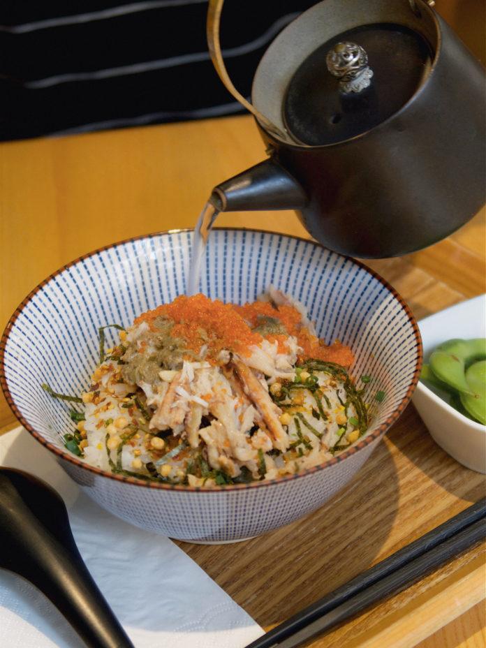 蟹肉蟹羔茶漬飯 鹹香適中,喜歡日式茶漬飯的朋友一定要試!