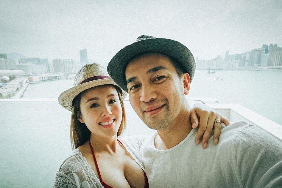 楊洛婷挺9月孕肚影沙灘寫真 紀念與老公Tim相愛15年