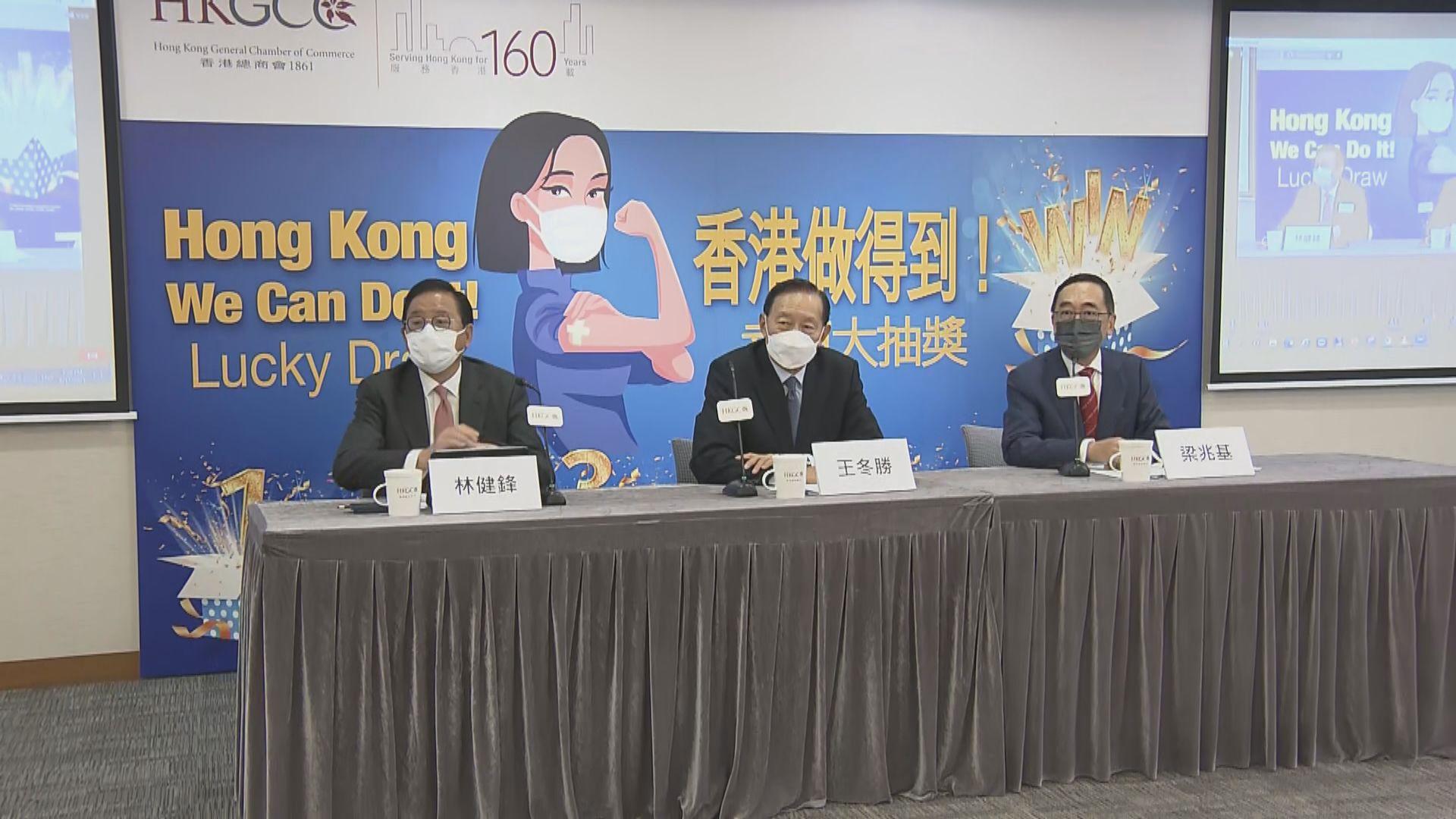 香港總商會推出疫苗抽獎 總值約三千萬元