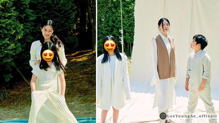 李英愛10歲雙胞胎罕有曝光 阿女五官神複製媽媽