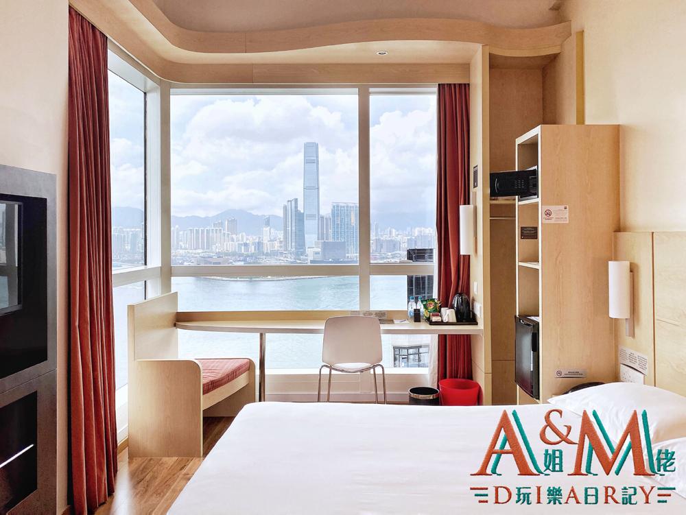 [香港Staycation] 24小時食住玩兼有維港景打卡 平玩宜必思香港中上環酒店