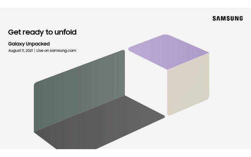 SAMSUNG 摺屏機來了,官方宣布 Unpacked 將於8月11日舉行!