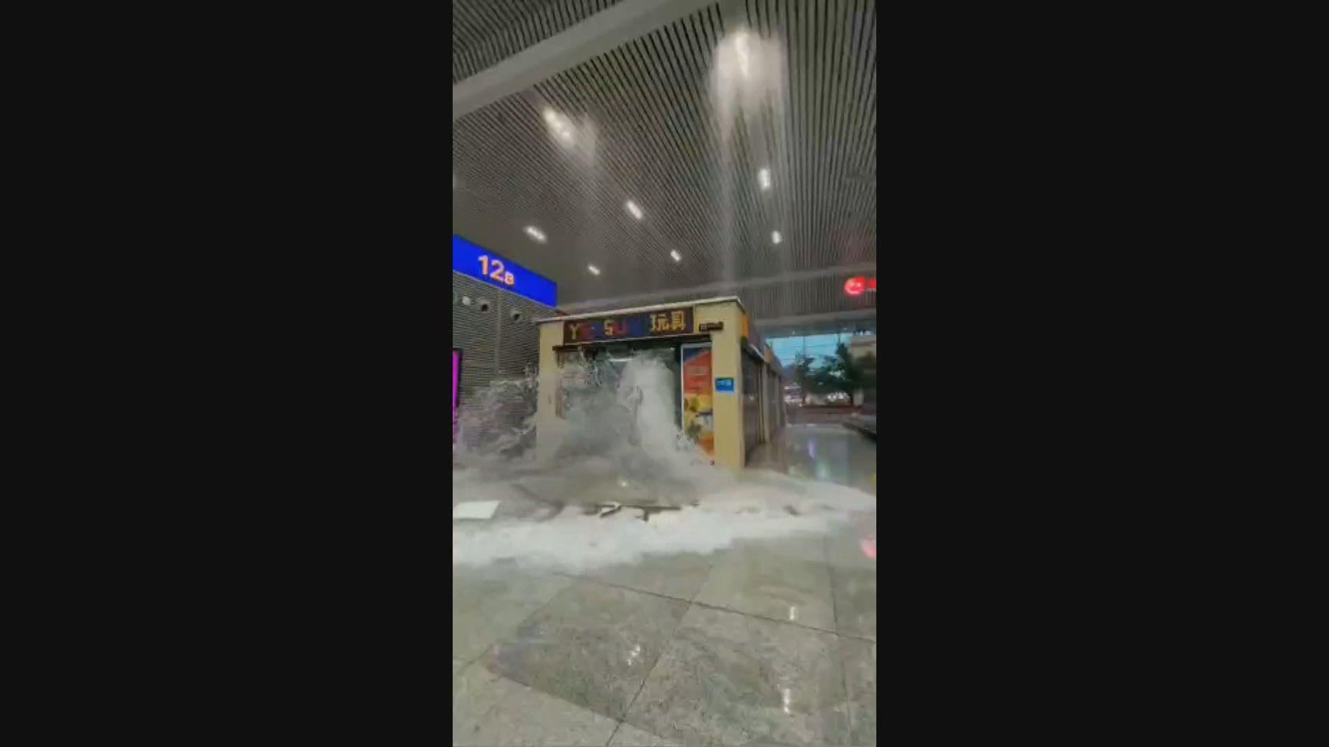 河南暴雨洪災 鄭州地鐵稱洪水沖毀擋水牆致嚴重水浸