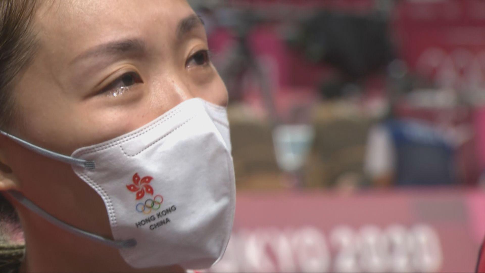 謝影雪:表現比較緊張 感謝拍檔鄧俊文