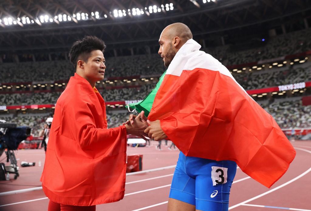 男子100米 意大利跑手積及斯奪金