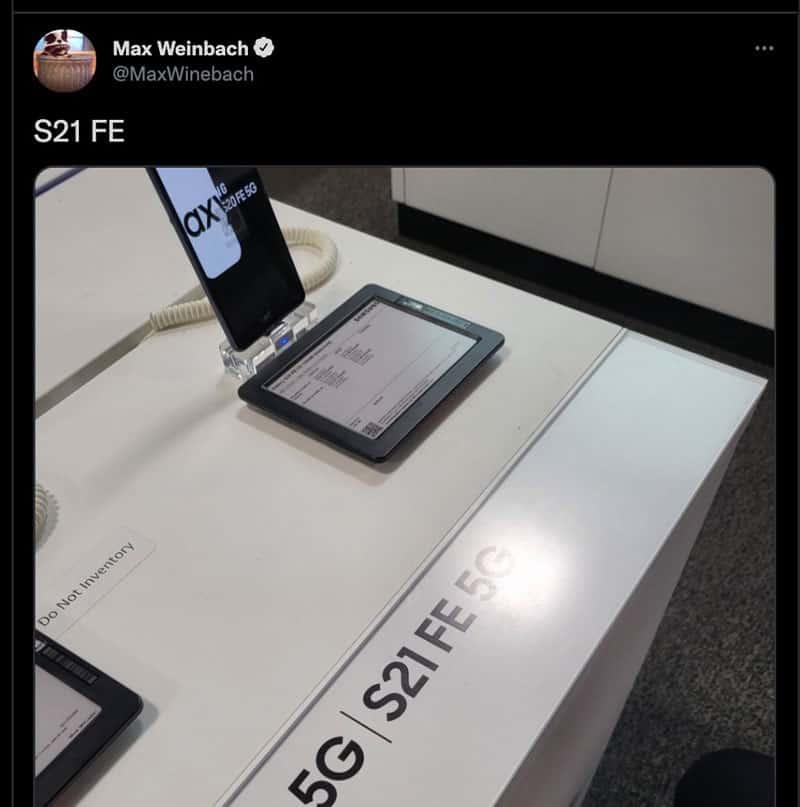 專門店展位已就緒,Galaxy S21 FE 5G 或 9 月 8 發佈