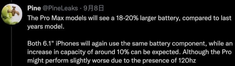 不加價、普遍電量提升,發佈前夕再來 iPhone 13 爆料