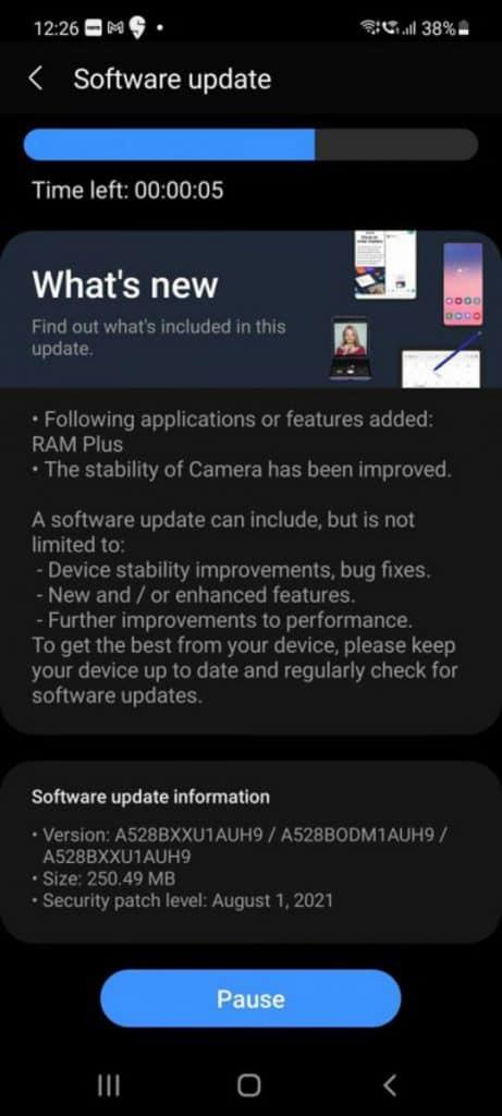 Samsung 罕有引入,Galaxy A52s 5G 添加虛擬 RAM 擴充功能