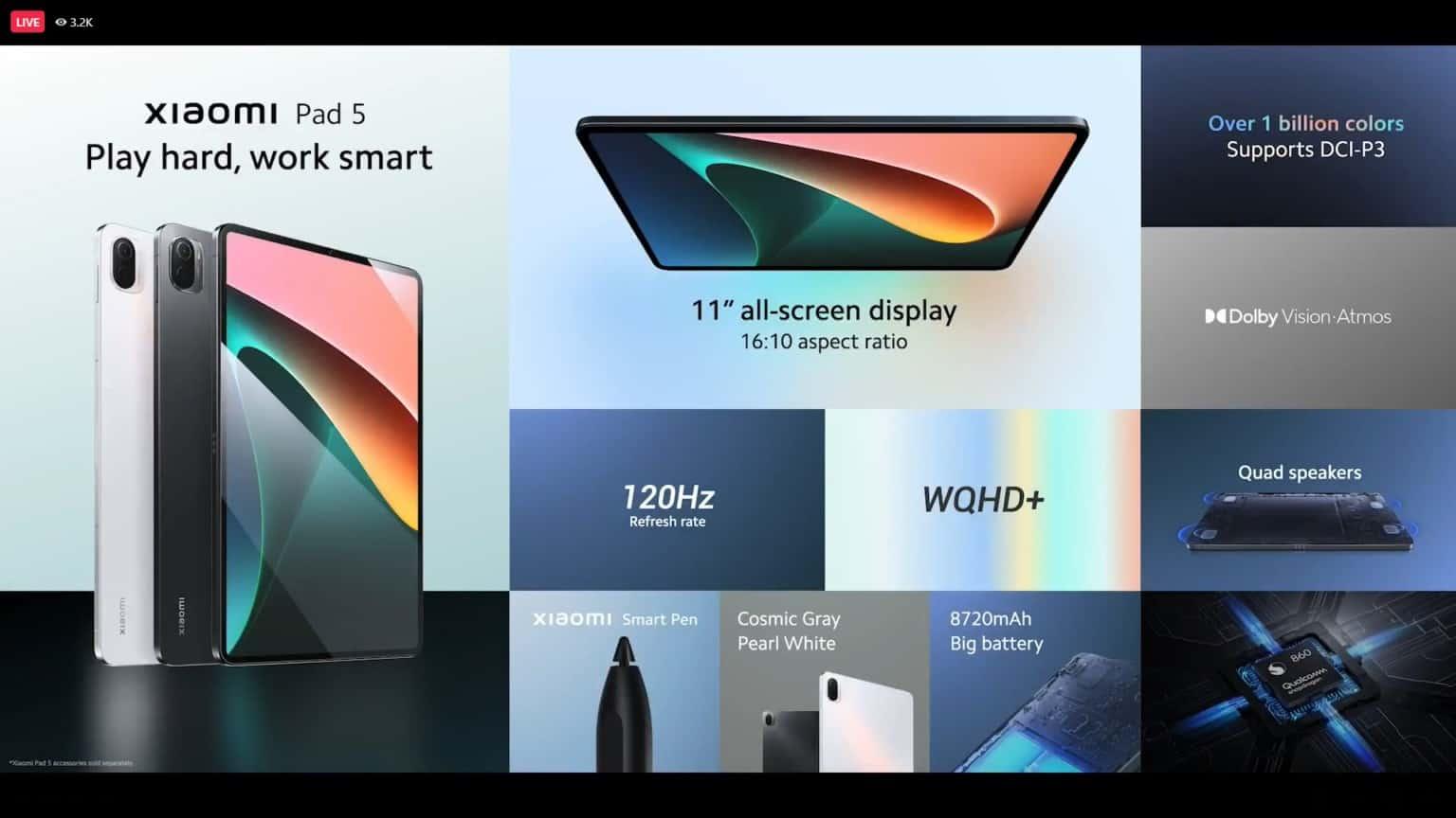 Xiaomi Pad 5 國際版正式發表,並於929登陸香港!