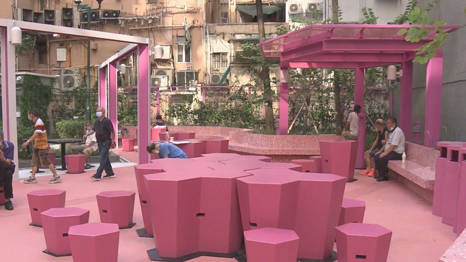 砵蘭街桃紅色花園引熱議 設計師︰喚起關注是好事
