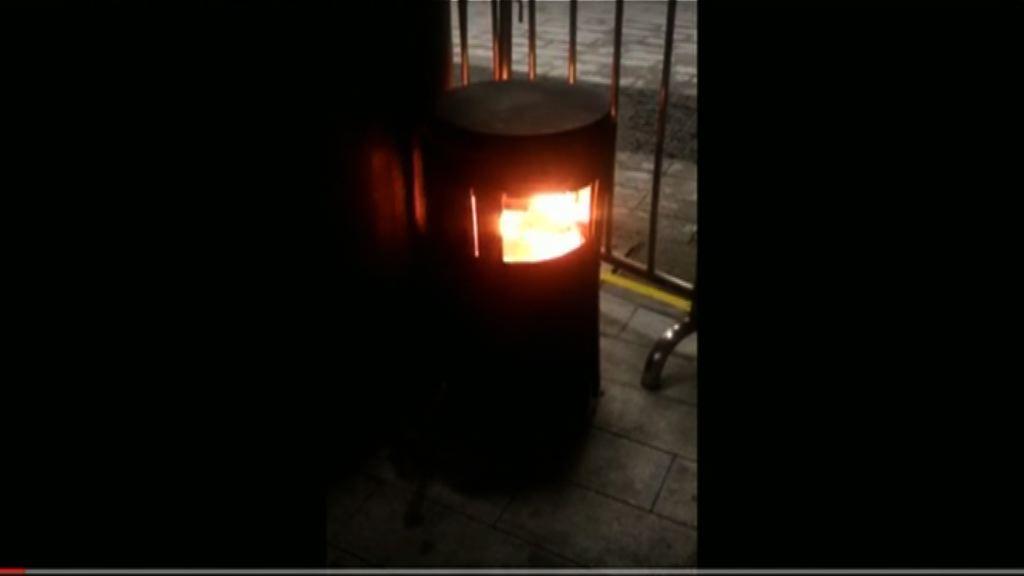 立法會垃圾桶縱火案 保安部職員作供