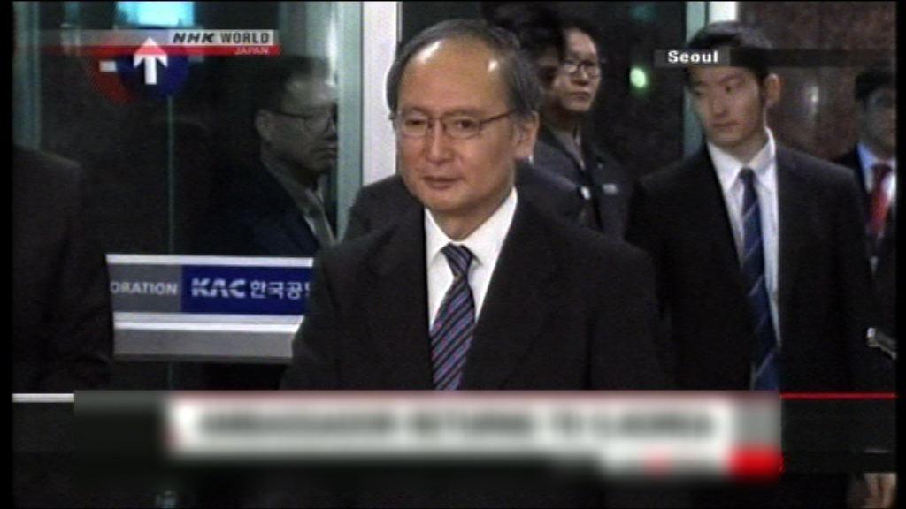 日本大使長嶺安政將促南韓撤少女像