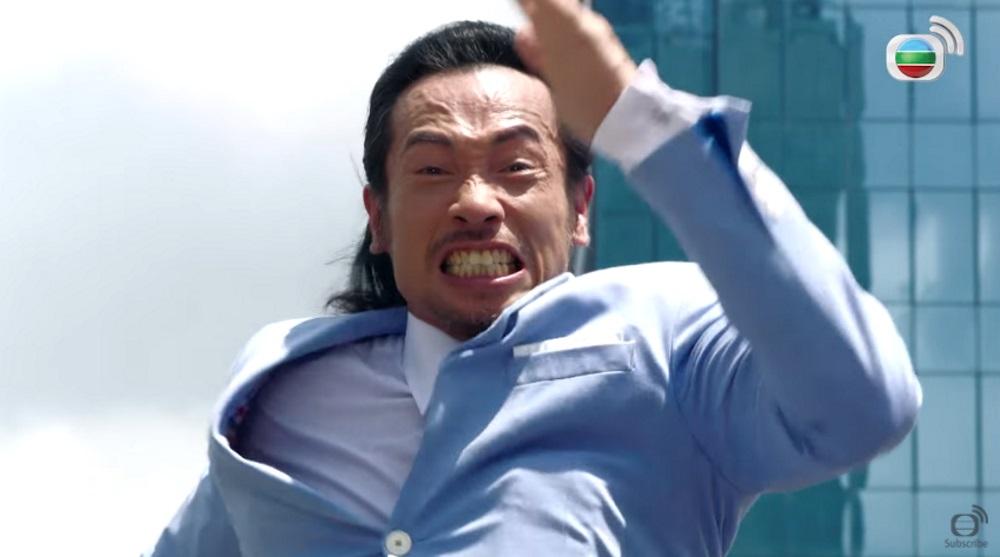 陳豪重現呢幕跳天台,真係好精彩,盡見大台風度。(網上圖片)