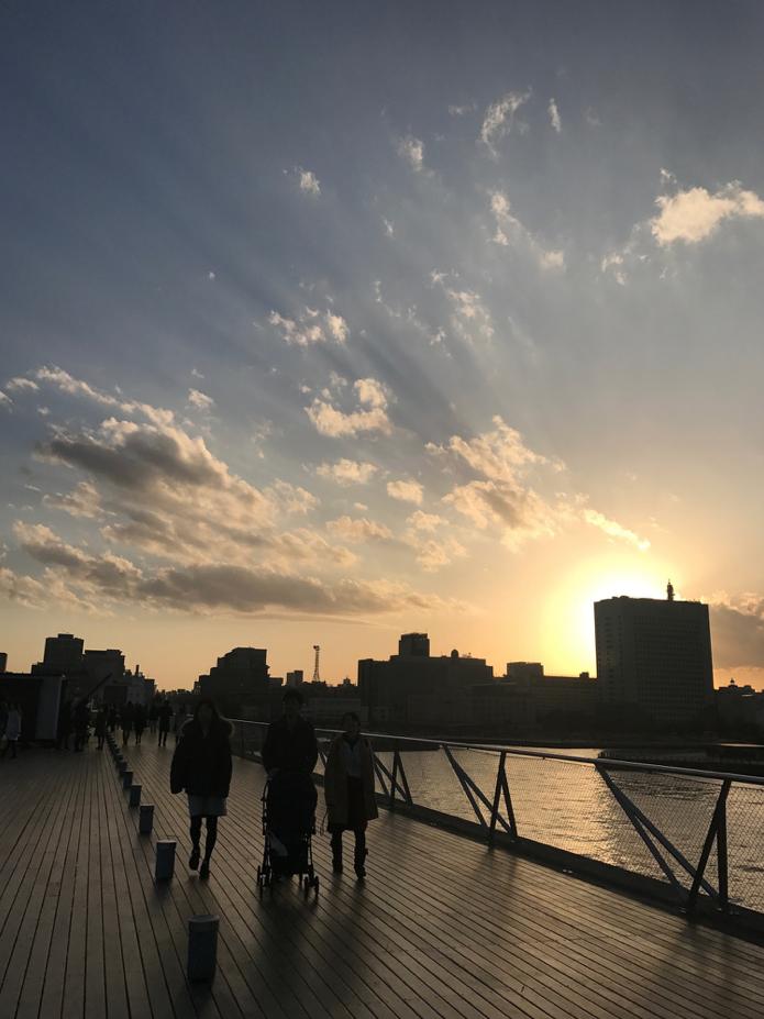 橫濱港大棧橋國際郵輪碼頭頂層的公共空間