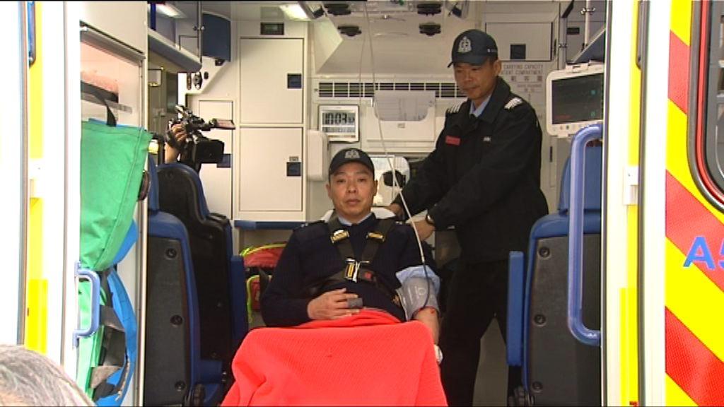 消防處引入3輛黃色救護車 輪流予前線試用