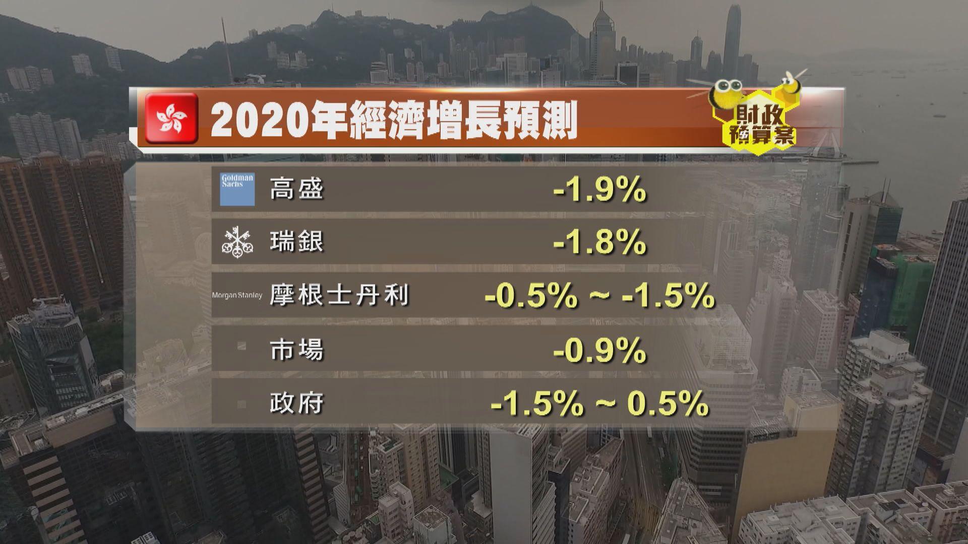 【大行點評】大行對本港經濟預測較政府差