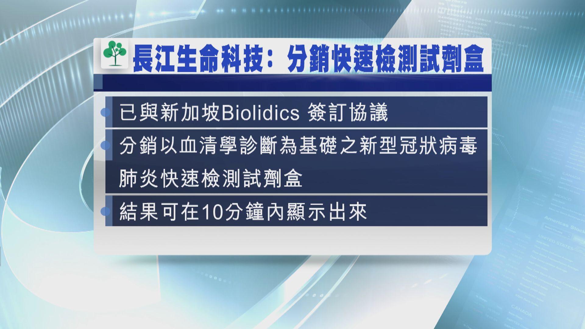 【試劑盒】長江生命科技將分銷新型肺炎試劑盒